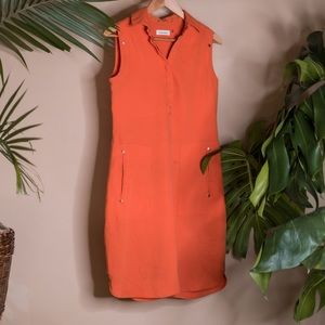 Calvin Klein Orange Dress S